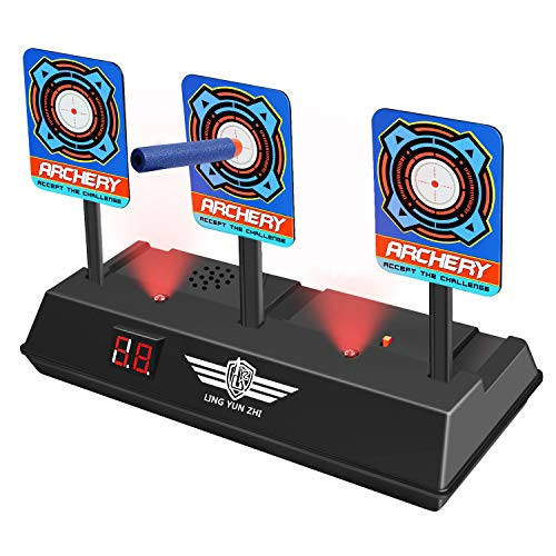 Nerf Guns Targets for Kids, Tesoky Electronic Shooting Digital Targets Toy Nerf Targets for Shooting Outdoor Electric Target HDUSST01