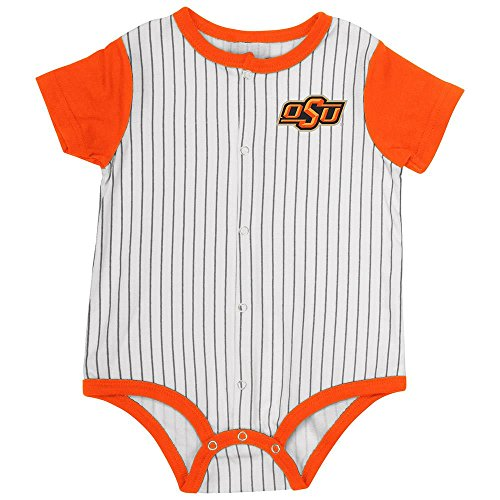 Infant Oklahoma State Cowboys Baseball Pinstripe Bodysuit - 3 to 6 Months