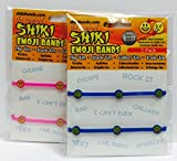 Shiki Emoji Bands 2 Packages of 2 Bracelets (Set of 4 assorted styles and colors)