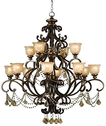 - Crystorama 7512-BU-GTS Crystal Accents 12 Light Chandeliers from Norwalk collection in Bronze/Darkfinish,