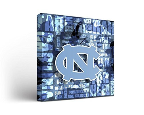 North Carolina Unc Tar Heels Canvas Wall Art Fight Song Design (12x12) (Unc Tar Heels Wall)