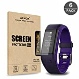 (Pack of 6) Garmin Vivosmart HR+ Screen Protector, Akwox [HD Clear][Anti-Glare][Anti-Bubble] Full Coverage TPU Screen Protective Film for Garmin Vivosmart HR+
