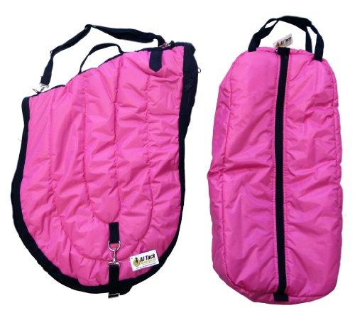 All Purpose English Saddle Carrier Bridle Bag Hot Pink (Nylon All Purpose Saddle)