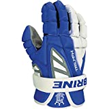 Brine Triumph III Lacrosse Gloves - Royal Blue and White - 12 inch