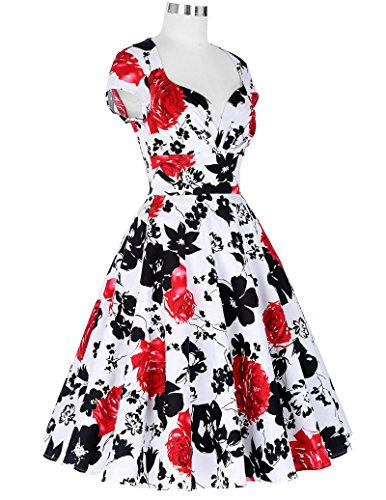 Yafex Floral 5 3 Mujer Vestido Estilo Para HrnfqgpH