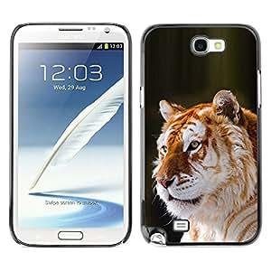 Ziland/Diseño delgado funda Shel/Fur Big Cat Africa Tropical/Samsung Galaxy Note 2N7100