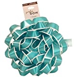 JAM Paper® Gift Bows - Medium - 5 1/2'' Diameter - Blue with White Edge - 100/pack