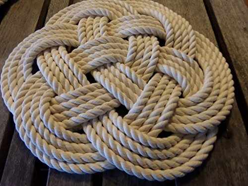 Cotton Rope Place Mat Knotted Nautical Decor (Nautical Rope Centerpiece)