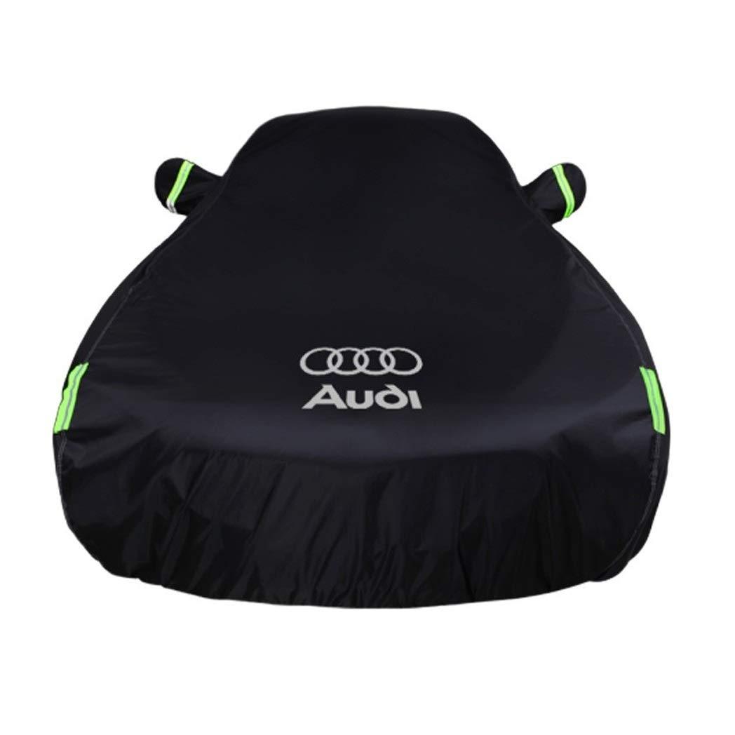Cubierta de coche Compatible con Audi R8 Cubierta de automóvil especial Ropa de automóvil Protector solar Impermeable Tela de poliéster más funda de automóvil de terciopelo de algodón