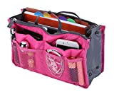 Lady Women Travel Insert Handbag Organizer Purse Large Liner Organizer Tidy Bag (13 Pockets Medium Size)
