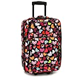 Cheap Elite Luggage Love Hearts Carry-on Rolling, Multi-Color