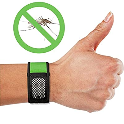 Mosquito Repellent Bracelets, iCooker® [No Spray, DEET-FREE] 2x FREE Repellent Refills - Best Pest Control Repeller Products for Ants, Insects & Other Mosquitoes - Perfect Bug Insect Repellent for Kids, Adults, Women and Children