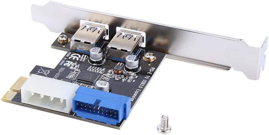 USB Port Card,PCIe USB Card with Internal 20-Pin Connector,Super Speed Up to 5Gbps,No Need Additional Power Supply for Windows XP//Vista//7//8//10 Tangxi 2 Ports PCI-E to USB 3.0 Expansion Card