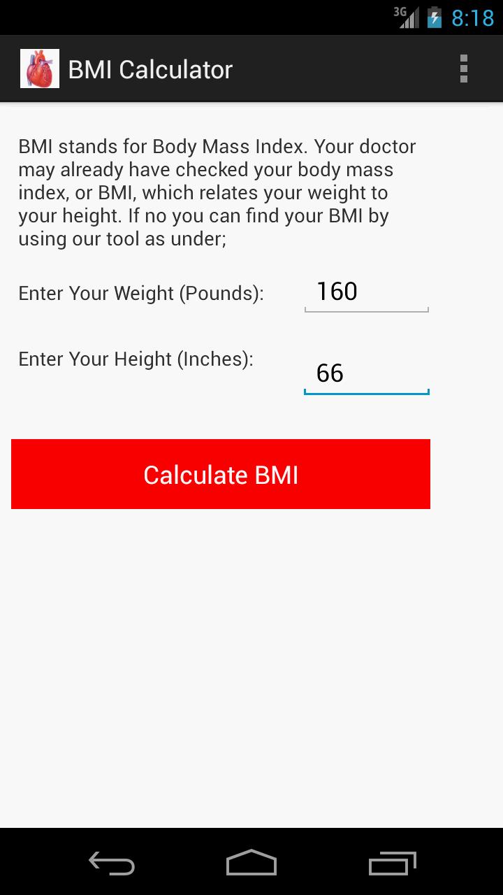 Amazon: Bmi Calculator: Appstore For Android