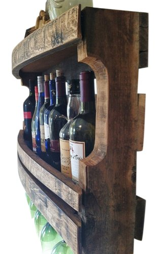 Napa Valley Reclaimed Wood Wine Rack by Great Lakes (Image #5)