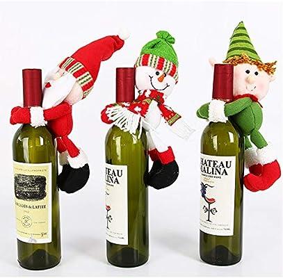 YOUMI Botella de Navidad Conjunto (Paquete de 3) Hecha a Mano 3D ...
