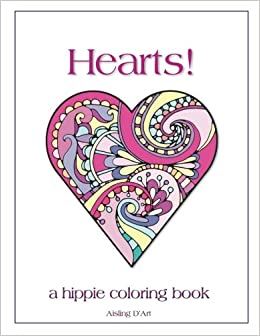 Amazon.com: Hearts!: A Hippie Coloring Book (9781543292039): Aisling ...