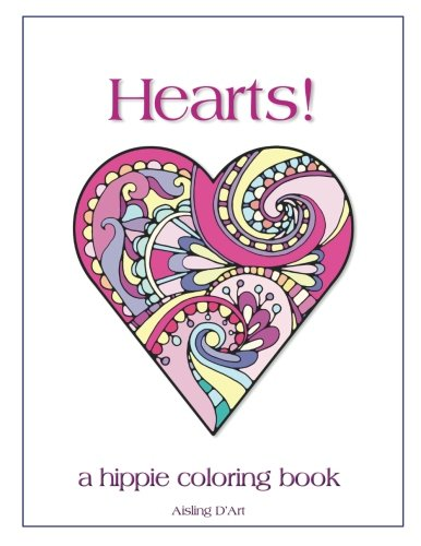 Hearts!: A Hippie Coloring Book (Darts Heart)