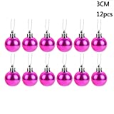 FLAMINGO_STORE Christmas Ball Ornament Christmas Xmas Tree Ball Bauble Hanging Home Party Ornament Decor30mm Christmas Xmas Tree Ball Bauble Hanging Home Party Ornament Decor hotpink