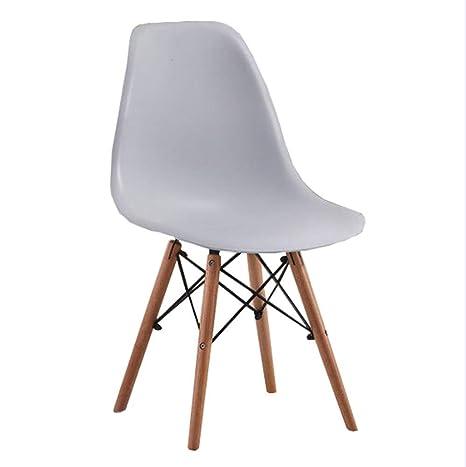 Amazon.com: Tungchilan Silla de escritorio de madera maciza ...