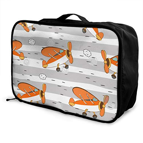American Flag Plane Cartoon Men's & Women's Travel Cosmetic Makeup Bag Large Waterproof Cosmetic Makeup Travel Organizer