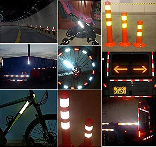 Shinequ-US Reflective Stripe,Reflective Warning Tape, 2Pcs High Intensity Reflective Safety Tape, 5 cm x 3 m by Shinequ-US (Image #4)