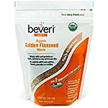 Beveri Nutrition—Organic Golden Milled Flax Seed—Whole Seeds—A Natural, Essential, High-Protein + Fiber Superfood—1 Pound Bag