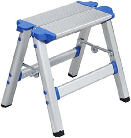DY Taburete Banco de Taburete, Taburete de Aluminio Silla de Escalera Plegable y Engrosada Taburete de Caballo: Amazon.es: Hogar