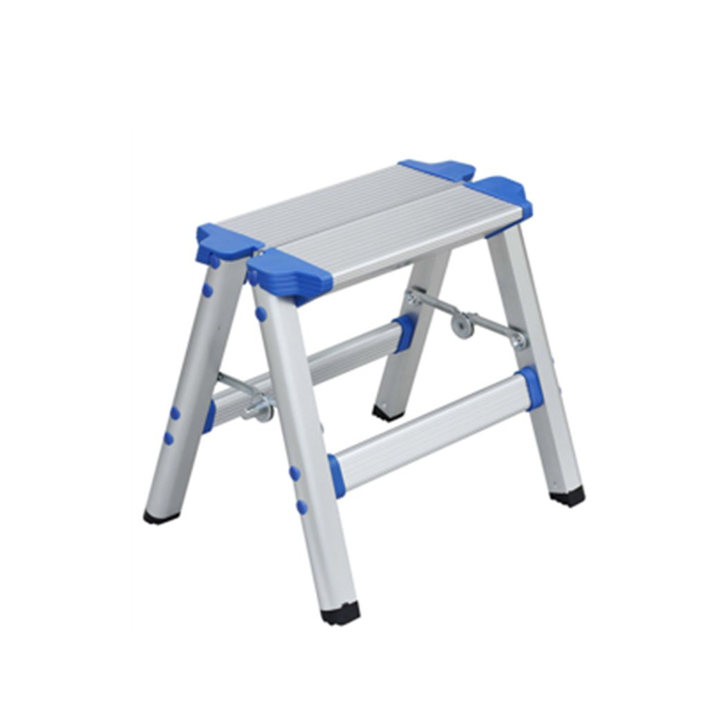 DNSJB Stool Bench, Aluminum Footstool Thickened Folding Ladder Chair Horse Stool