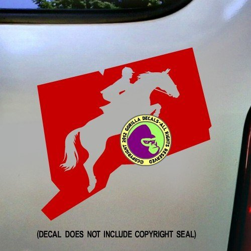 STATE CONNECTICUT Hunter Jumper Vinyl Decal Sticker C