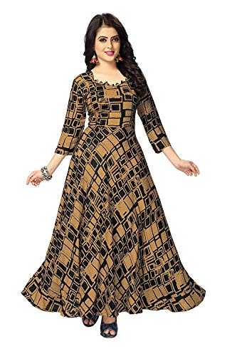 Venisa Pure Heavy Rayon Printed Gown For Woman