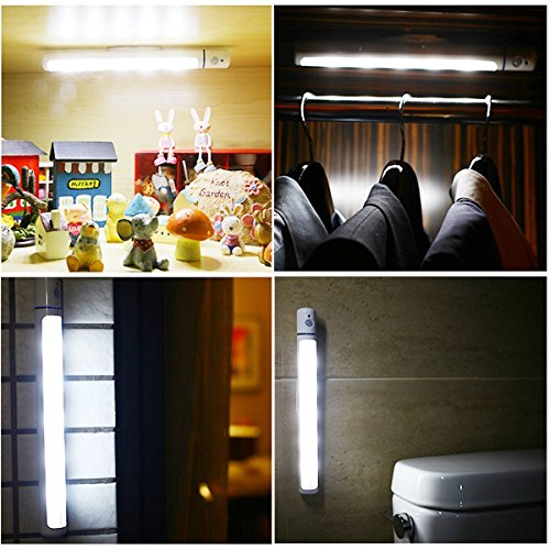 ... Closet Light LED Motion Sensor Cabinet Lighting Battery Powered  Wireless Portable Light Bar With Magnetic Strip ...