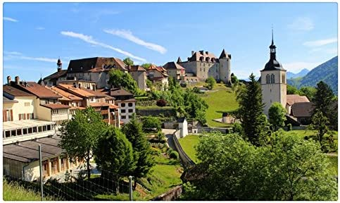 Suiza casas Friburgo Gruyere ciudades Tourist Souvenir muebles ...