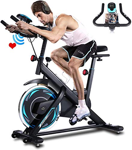 ANCHEER Bicicleta de Spinning Bicicleta Indoor de Volante de Inercia de 18kg Conecto con App Resistencia Ajustable y…