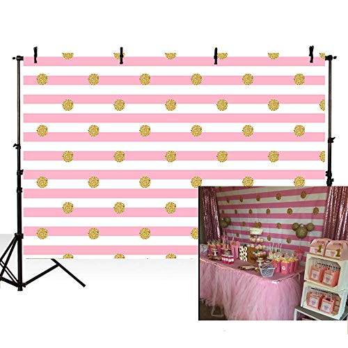 MEHOFOTO Photography Backdrops Cute Pink and White Stripes