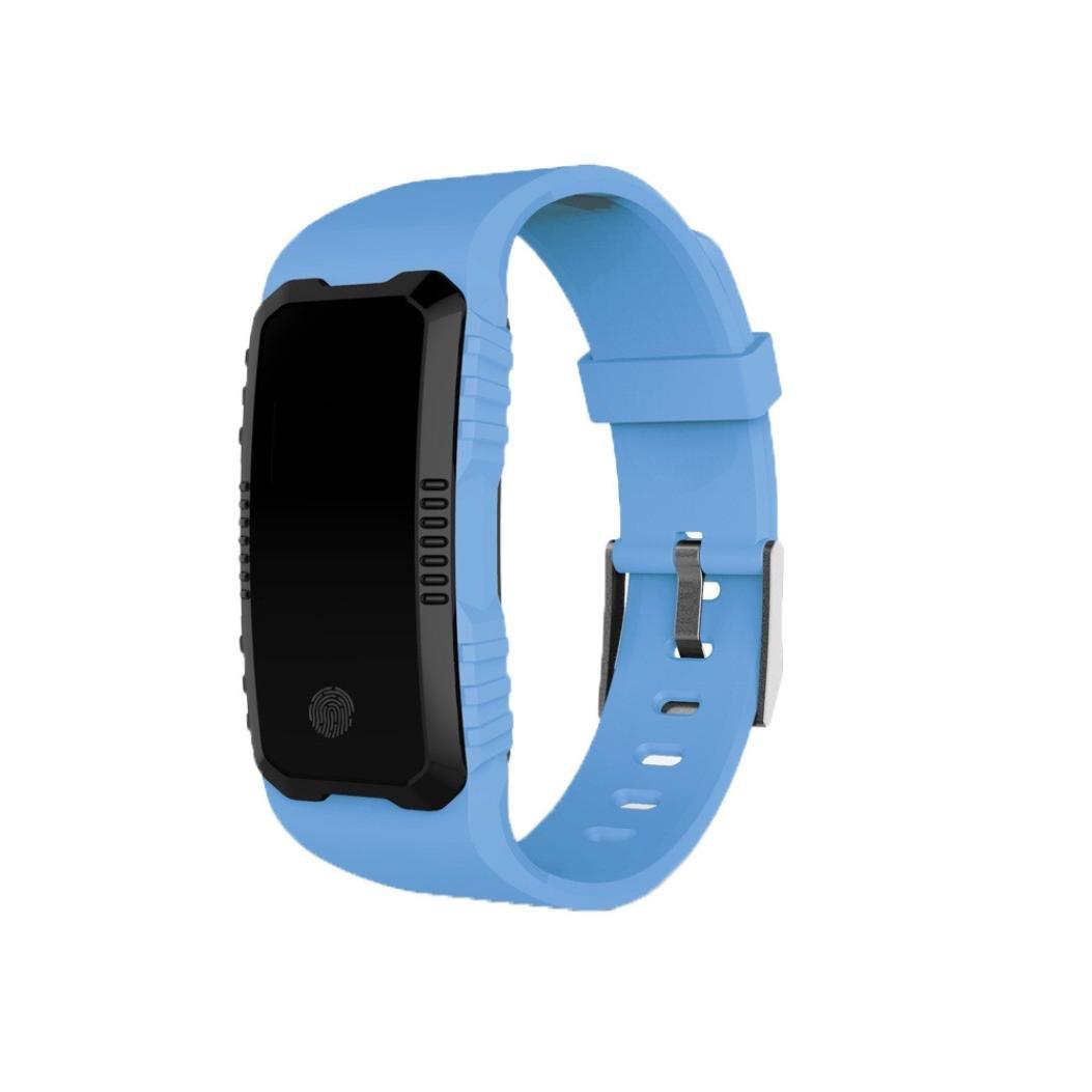 Reloj Inteligente Xinan Fitness Tracker Pulsera Inteligente Monitor de Pulso Cardiaco Bluetooth Pulsera Inteligente Deporte Actividad Tracker con Contador ...
