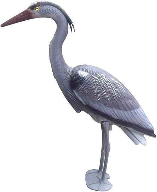 Defenders Decoy Heron  Standing Grey Heron Deters Bird Pests from Attacking Gard