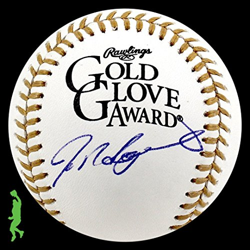 Ivan Rodriguez Autographed Signed Mlb Gold Glove Award Baseball Ball Coa - JSA Certified - Autographed MLB Gloves ()