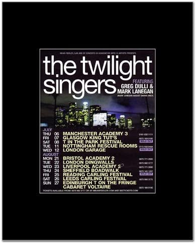 Amazon.com: Music Ad World Twilight Singers - UK Tour 2006 Mini Poster -  14x11cm: Kitchen & Dining