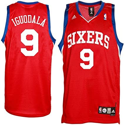 e4ca32e45f9 ... promo code for adidas philadelphia 76ers 9 andre iguodala red swingman  basketball jersey medium 43718 fc072