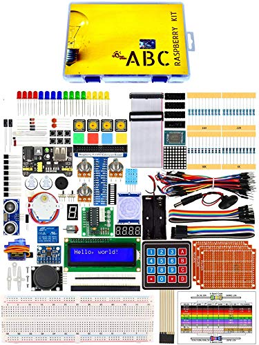 ABC Kit compatible with Raspberry Pi 4B /3B+ / 3B / 3A+ / 2B / 1B+ / 1A+ / Zero W/Zero with 250+ page detailed colorful graphic pdf tutorial (without Raspberry) Price & Reviews