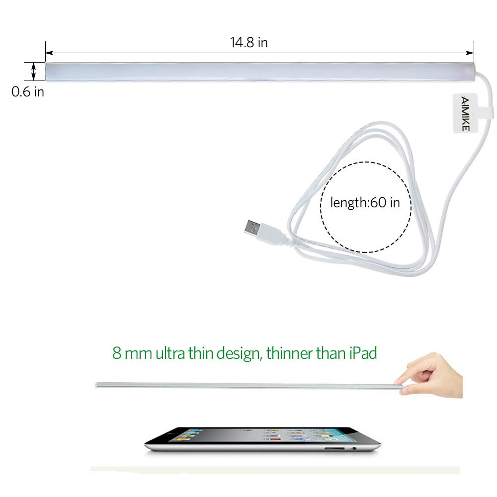 Aimike Diy Touch Control 36 Led Dimmable Usb Connect Light Stick On Flickering Circuit Anywhere Lamp For Pc Or Laptopclosetkitchen Lighting