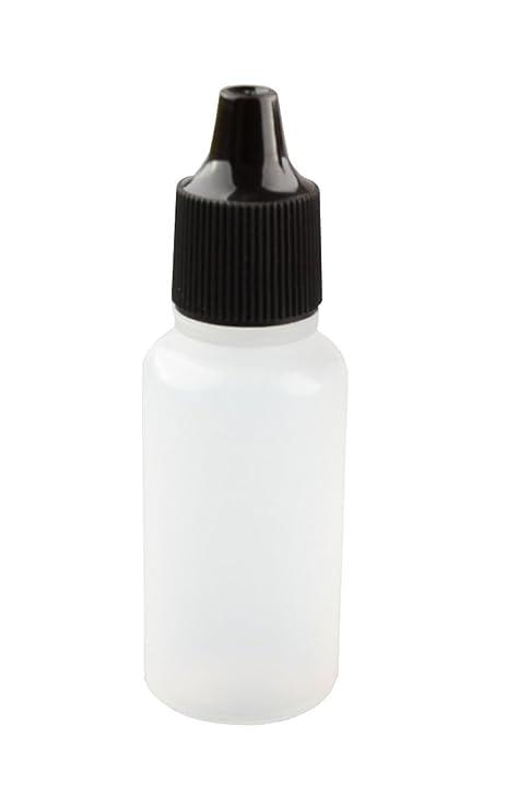 10 ml vacío plástico cuentagotas Botella/goteo Botellas con negro Cap (gotas de enchufe