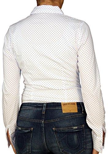 Extra Me - Camisas - Lunares - clásico - Manga Larga - para mujer blanco