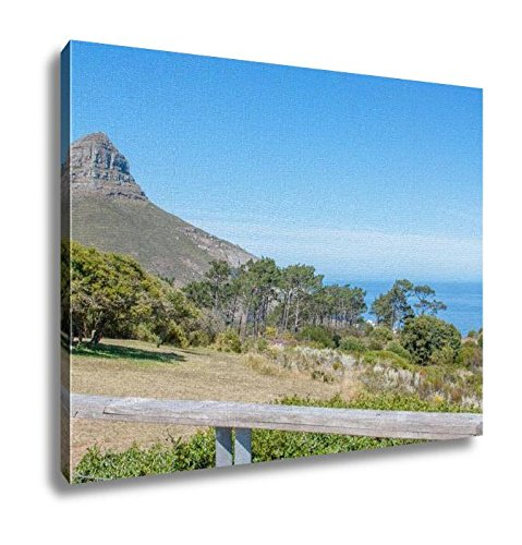 Ashley Canvas, South Africa Cape Town Table Mountain Lions Head And The Green Point Stadium, Kitchen Bedroom Dining Living Room Art, 24x30, AG6320143