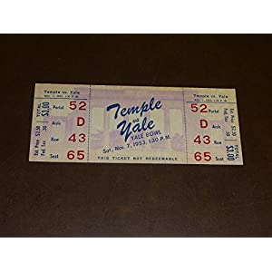 1953 TEMPLE AT YALE COLLEGE FOOTBALL FULL TICKET NEAR MINT