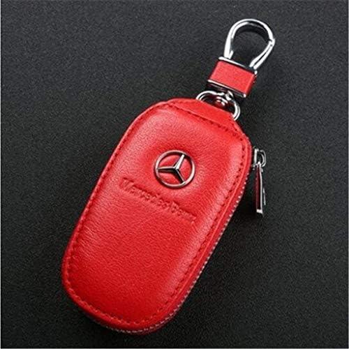 車のキーカバー、男性と女性のための適切な革車のキーホルダーケースキーチェーンコインケースユニバーサル財布バッグ (Color :