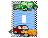 RACE CAR Single SWITCHPLATE COVER Hot Rod HOME DECOR