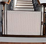 The Stair Barrier - Banister-to-Banister Baby/Pet Gate - Wide - Basketweave