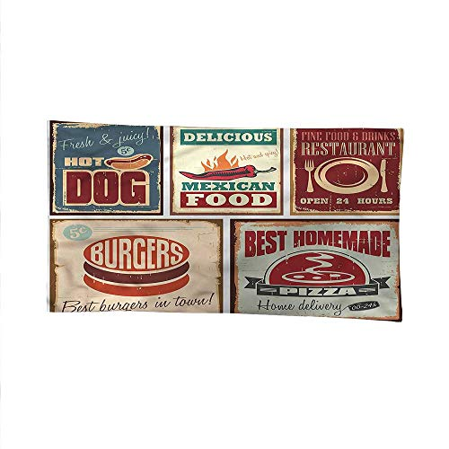 (Retrospace tapestrywall Hanging tapestryRetro Mexican Tin Sign 93W x 70L Inch)